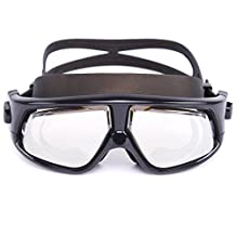 Whale Negative Optical Corrective swim Goggle Mirrored Swimming Goggles Mirrored Swimming Masks with Anti-Fog Mirrored Degree Lenses(Negative -1.5 to -7.0 Diopters) for Women and Men Adult