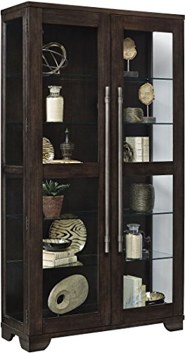 Pulaski P021585 Zadie Collection Two Door Curio Display Cabinet, 44'' x 16'' x 80'', Oak Brown by Pulaski