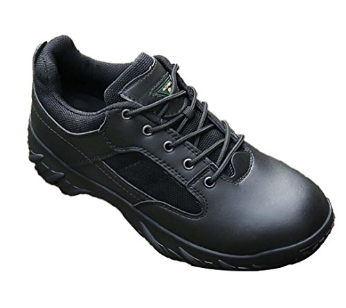 WZG Ejército de los aficionados al aire libre de los hombres bajos para ayudar a los zapatos militares tácticas botas botas de combate del desierto los hombres botas de comandos marinos botas botas de Black