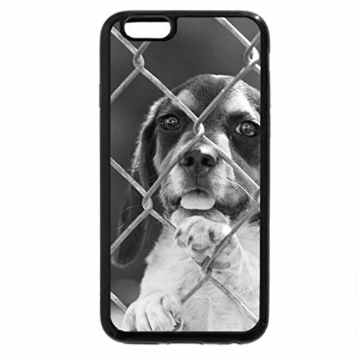 iPhone 6S Case, iPhone 6 Case (Black & White) - Small dog as grid
