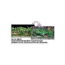 Blue Ribbon Pet Products ABLVSB1319 Tropical Decorative Background for Aquarium, 19-Inch by 50-Feet
