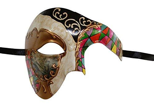 Princess Bride Pirate Costume (KAYSO INC Mosaic Phantom Of The Opera Venetian Masquerade Mask Unisex (Rainbow))