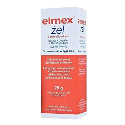 Elmex Gelee Gel - 25 g- 40 Brushes - 1 Box - Extreme Prevention for Cavities