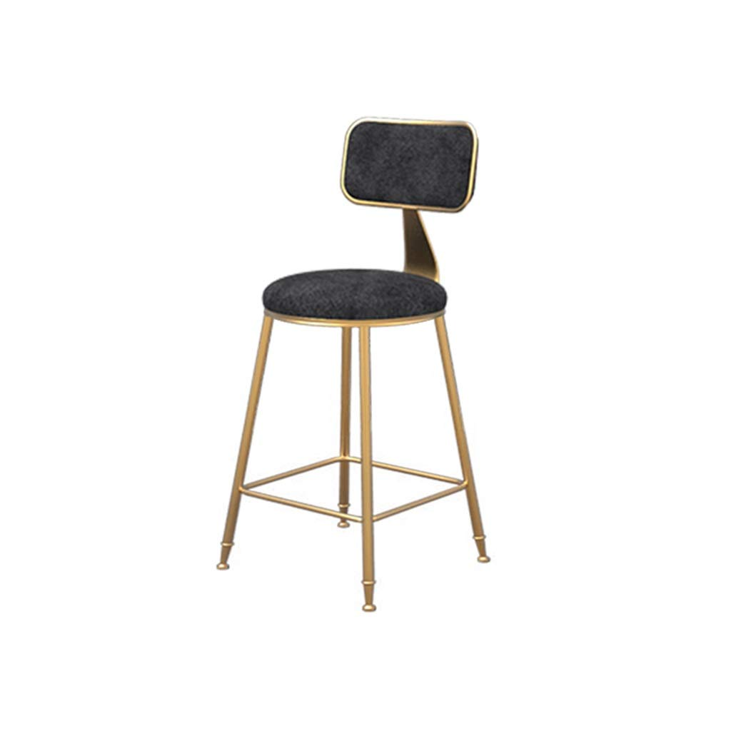 Black 45cm high Simple bar Chair Flannel Barstool Dining Chair High Stool Leisure Chair (color   White, Size   45cm high)