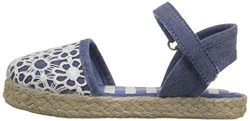 ina Girl's Espadrille (Toddler/Little Kid/Big Kid), Chambray, 11 M US Little Kid ()