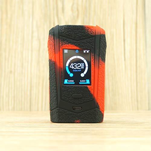 (CEOKS for SMOK Species Silicone Case, Anti-Slip Protective Silicone Case Skin Rubber Cover for SMOK Species 230W Vape Rubber case wrap Shield (Black/Red))