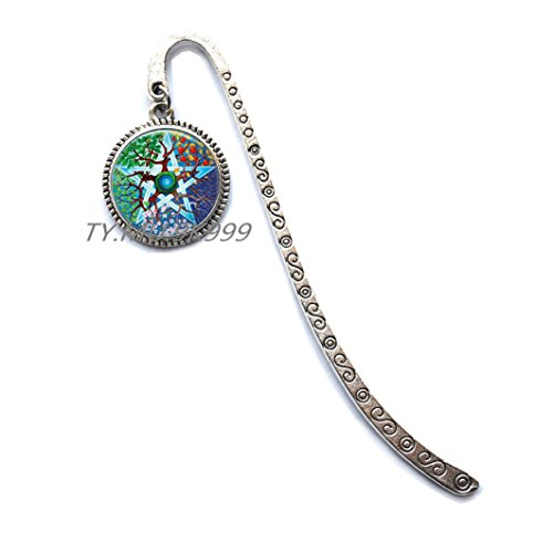 (wiccan glass Bookmarker Bookmark art picture statement jewelry charms witchcraft Bookmarker.Tree of life Bookmark.Y038)
