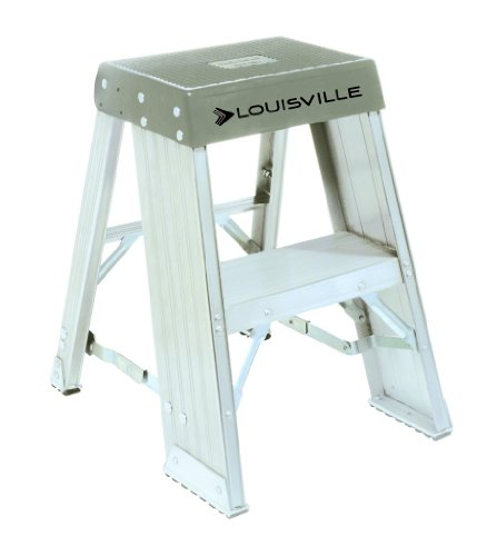 Louisville Ladder AY8003 300-Pound Duty Rating Aluminum Step Stands, 3-Foot
