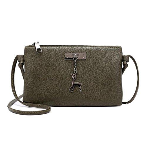 Zarupeng Messenger Dell'esercito Moneta Verde 1 cuoio A Bag Puro Donne Delle Tracolla Borse Crossbody Colore HrfFHa