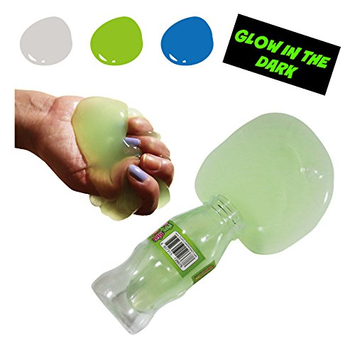 Glow In The Dark Big Bottle Slime Liquid Jelly Soft Squeeze Pudding Toy 1pcs (Random) (Pudding Ring)