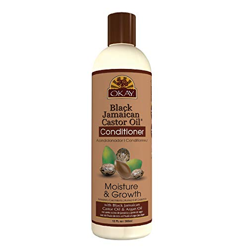 OKAY | Black Jamaican Castor Oil Conditioner | For All Hair Types & Textures | Revive - Moisturize - Grow Healthy Hair | with Argan Oil & Shea Butter | Free Of Parabens, Silicones, Sulfates | 12 Oz