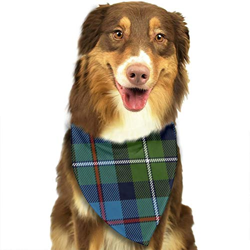 OURFASHION Mackenzie Highlander Tartan Ancient Colors Bandana Triangle Bibs Scarfs Accessories for Pet Cats and Puppies -