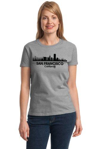 SAN FRANCISCO CITY SKYLINE Ladies' T-shirt / Golden Gate, Bay Area Alcatraz