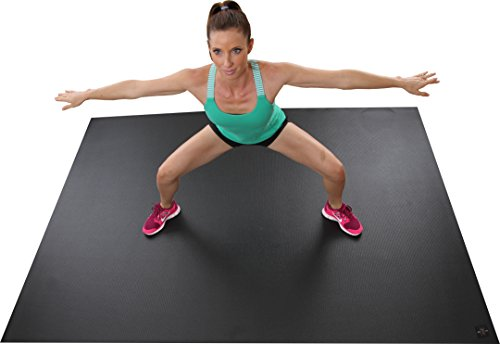 Extra Large Exercise Mat 8 X 6 96x 72 NEW MATERIAL Thicker Odorless Ideal For Living Room Workouts To Use With Cardiovascular Fitness DVD