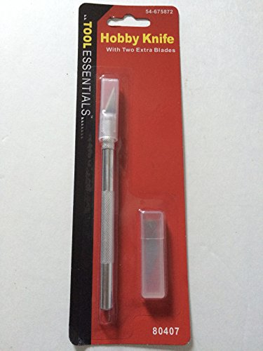 Tool Essentials - Hobby Knife with two extra blades (Hobby Knife Sharpener compare prices)