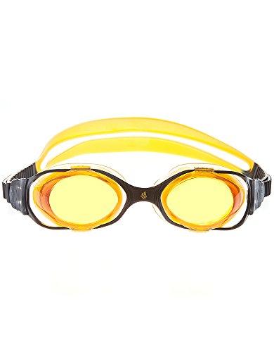 Mad Wave Unisexe M045101002W Lunettes, taille unique noir/jaune