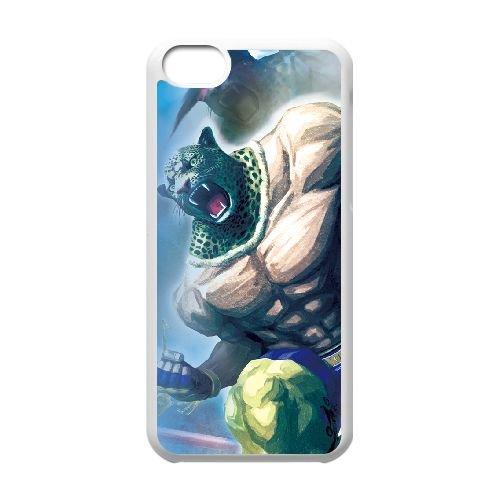 Street Fighter X Tekken 16 coque iPhone 5c cellulaire cas coque de téléphone cas blanche couverture de téléphone portable EEECBCAAN03510