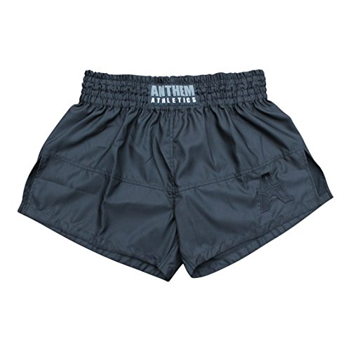 Anthem Athletics New 50/50 Muay Thai Shorts - Kickboxing, Thai Boxing - Black - X-Large