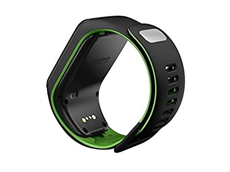 TomTom Runner 3 Music+Auriculares, Reloj música y auricular, Negro/Verde, L (Grande)