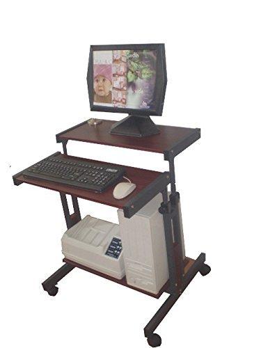 Small Computer Laptop Desk; 3 height adj. shelves; 26
