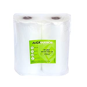 Vacuum Sealer Bags Roll 50'. 2 Pack for Food Saver