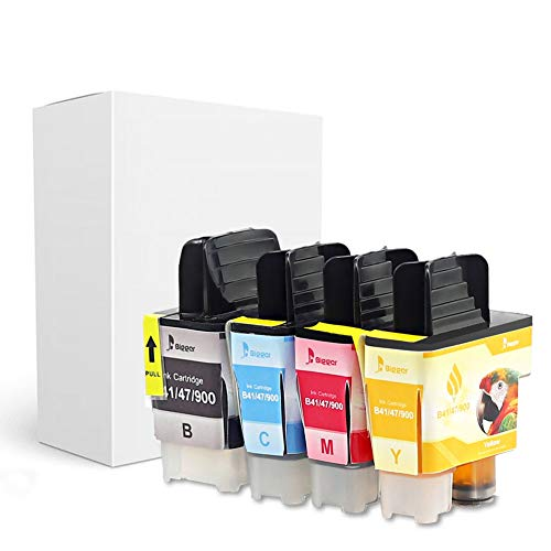 BIGGER Compatible Ink Cartridge Replacement for Brother LC41, Used with DCP-110C DCP-115C DCP-120C DCP-310CN 340CW, MFC-210C 215C 3240C 3340CN 410CN 420CN 425CN 5440CN 5840CN 4Pack Brother Mfc 5440cn Printer