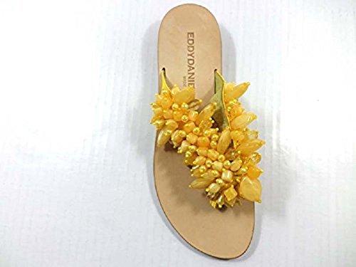 Zapatos Mujer EDDY DANIELE 37 Sandalias Amarillo Textil AX993