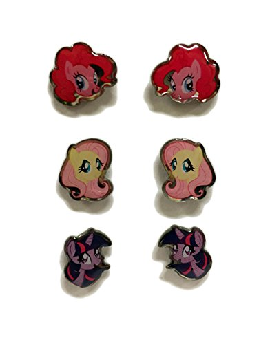 Pony Earring (MY LITTLE PONY SURGICAL STAINLESS STEEL EARRINGS - 3 PACK (Pinkie Pie / Fluttershy / Twilight Sparkle))