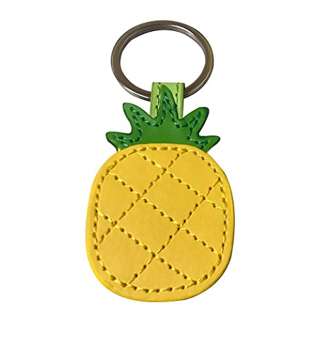 Leather Pineapple Keychain Bag Charm Car Cell Phone Decor Ornament, Gifts for Her