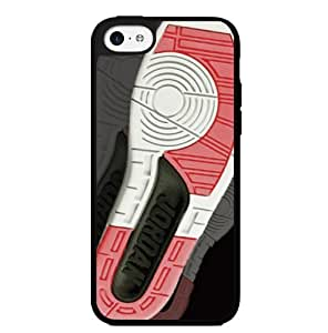 "Red, Black and White Designer Shoe ""2's Infrared Cements"" Foot Print Hard Snap on Phone Case (iPhone 4s)"