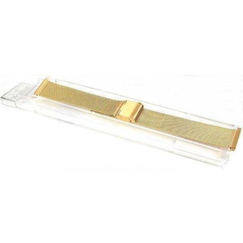 Mesh Watchband & Deployment Buckle Gold Plated 17-22mm