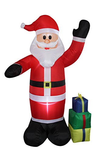 8 Foot Self Inflating Illuminated Christmas Santa with