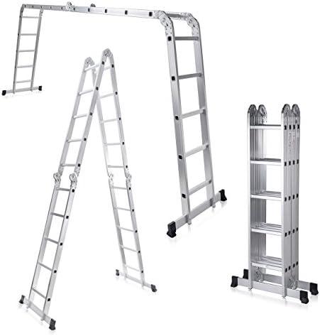 MAXCRAFT Escalera multifunción 6 en 1 de aluminio (5,92 m): Amazon.es: Bricolaje y herramientas