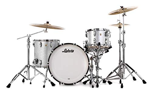 Ludwig Maple Classic Drum - Ludwig Classic Maple Fab 22 Shell Pack - Silver Sparkle