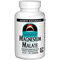Source Naturals Magnesium Malate 625mg, Supports Muscles and Energy Production,200 Capsules