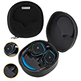 Navitech Black Hard Eva Carry Case (with built in power bank) for Wireless Gaming Headset and Headphones compatible with the Razer Thresher Ultimate