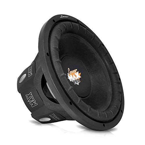 Lanzar 6.5 inch Car Subwoofer Speaker - Black Non-Pressed Paper Cone, Aluminum Voice Coil, 4 Ohm Impedance, 600 Watt Power and Foam Edge Suspension for Vehicle Audio Stereo Sound System - MAXP64 ()