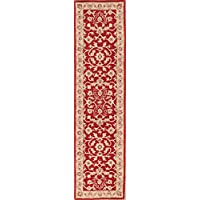 Rug Source All-Over Floral Red Hand Tufted Oushak Agra Oriental Rug 10 Ft Runner for Stairs