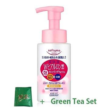 b6062cd222 Amazon.com : Kose Softymo Foam Cleansing Wash H Hyaluronic Acid - 200ml  (Green Tea Set) : Beauty