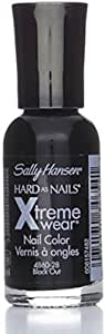 Sally Hansen Hard as Nails Xtreme Wear, Black Out [28], 0.4 oz (Pack of 2)
