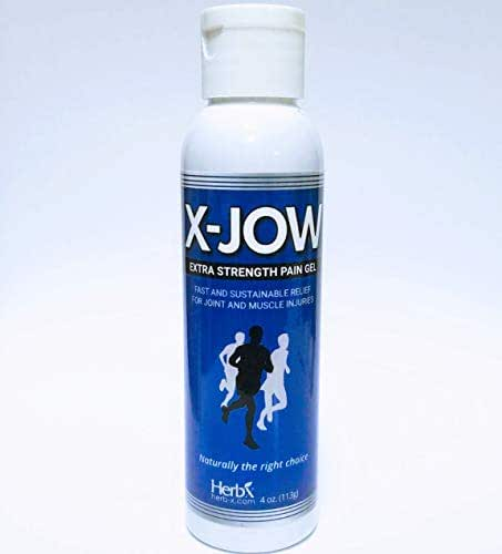 X-Jow Pain Relief Gel: Natural Herbal Topical Pain Reliever for Arthritis, Muscle Pain, Joint Sprains & Sports Injuries. Formulated for Fast and Sustainable Results (4oz)