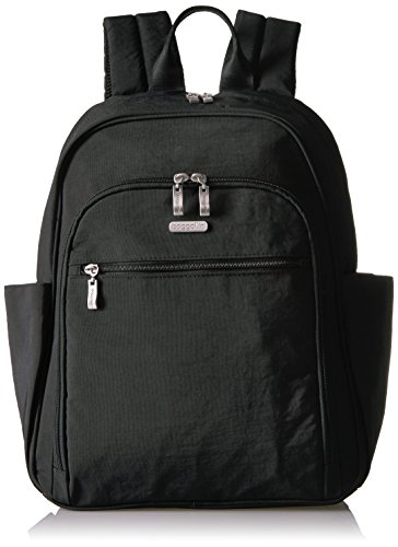Essential Laptop backpack with RFID Messenger Bag, Black/Sand, One Size