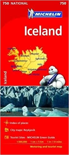 Michelin National Map 750 Iceland