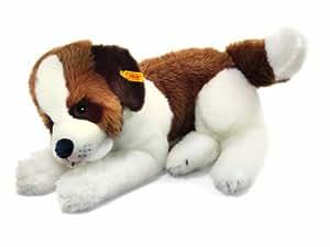 Steiff 079719 - Perro San Bernardo de peluche, color blanco y marrón [importado de Alemania]