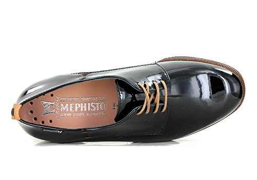 Derbies Black Richelieus MEPHISTO Femme POPPY qnTI51W