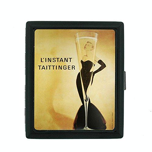 Metal Cigarette Case Vintage Poster D-077 L'Instant Taittinger Flute Champagne Sexy