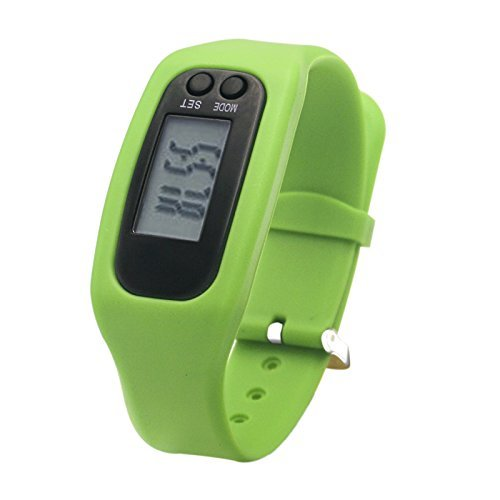 Fitness Tracker Watch, Simply Operation Walking Running Pedometer with calorie burning and steps counting by Bomxy (Green)