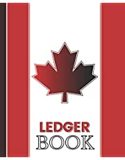 LEDGER BOOK: Red cover ledger book, accounting log book