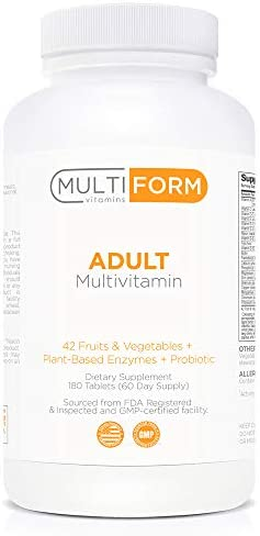 Multiform Vitamins Adult Multivitamin – Daily Multivitamin with Whole Foods 180 Pills