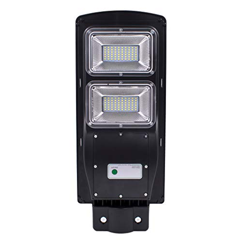 Charge Plates Motion Control (60/90W LED Solar Street Light, Tuscom PIR Remote Control Outdoor Barn Light Waterproof IP65 Solar Powered Street Light Flood Light Security Lamp for Garden, Yard, Stadium, Parking Lot, Roadway (60W))